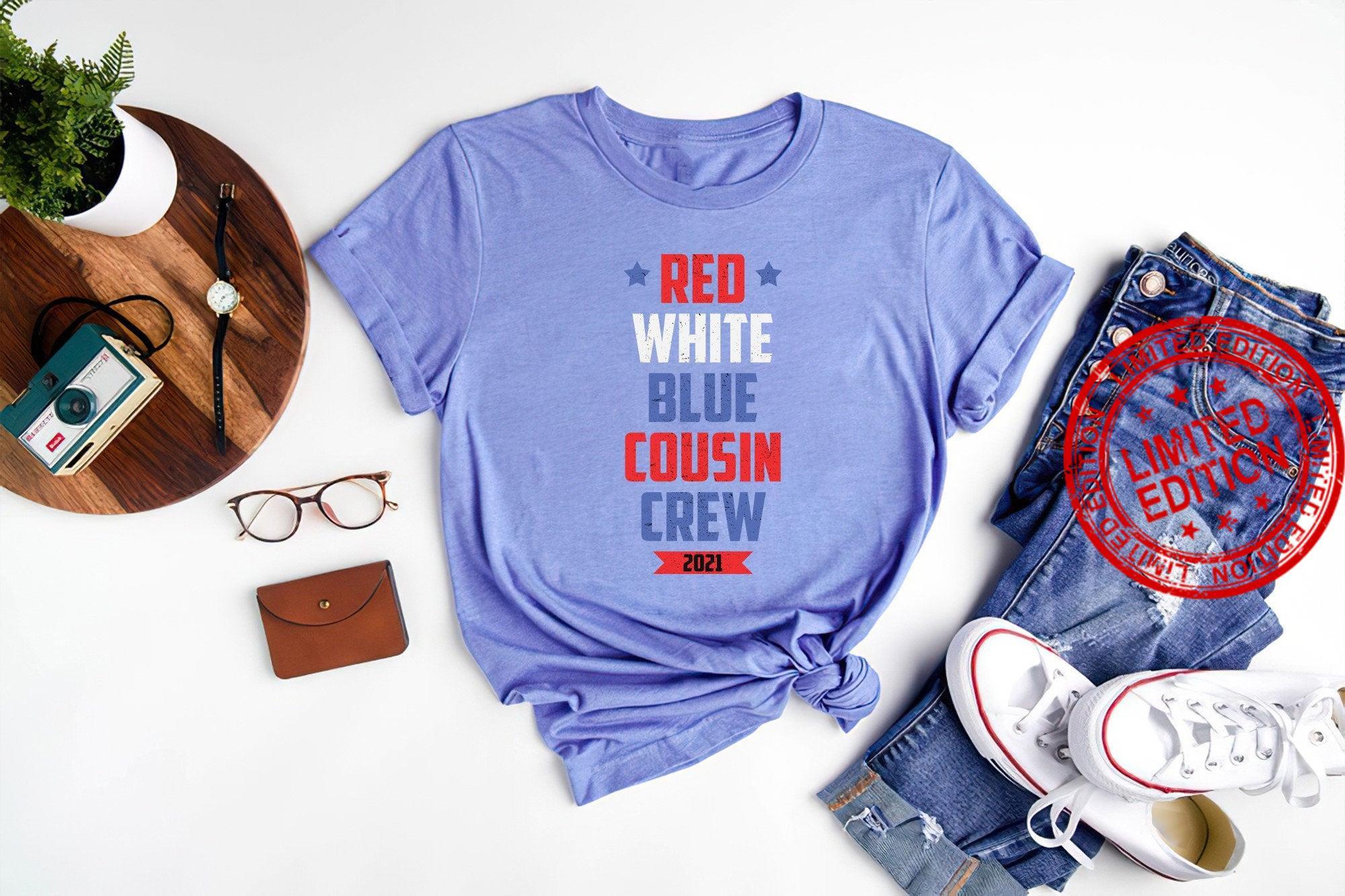 , Red White Blue Crew Shirt
