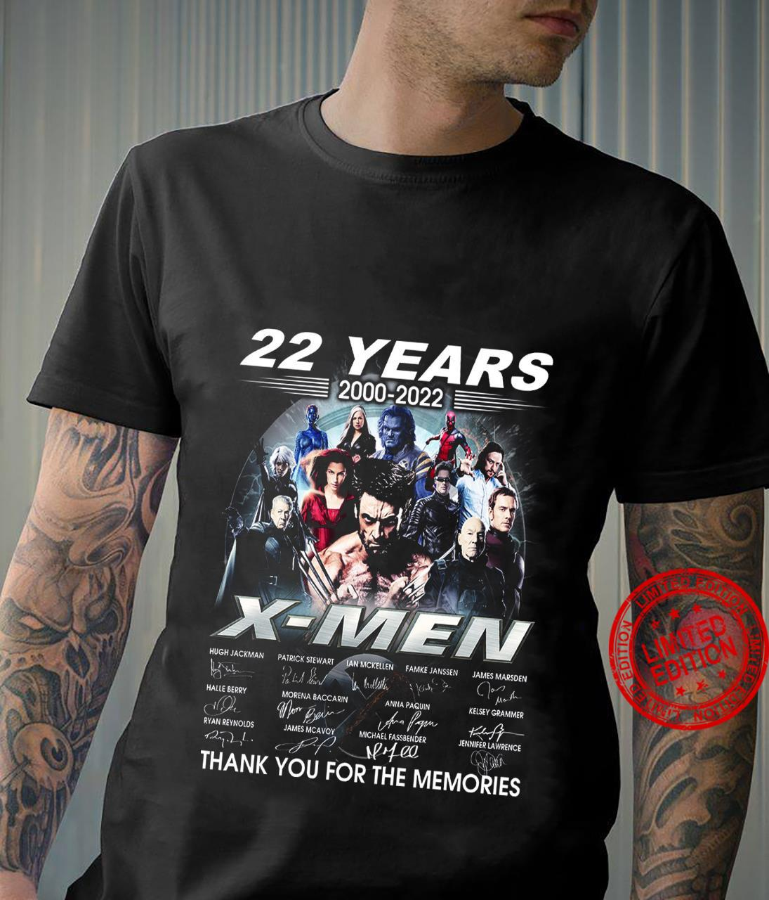 22 Years 2002 2022 X Men Thank You For The Memories Shirt