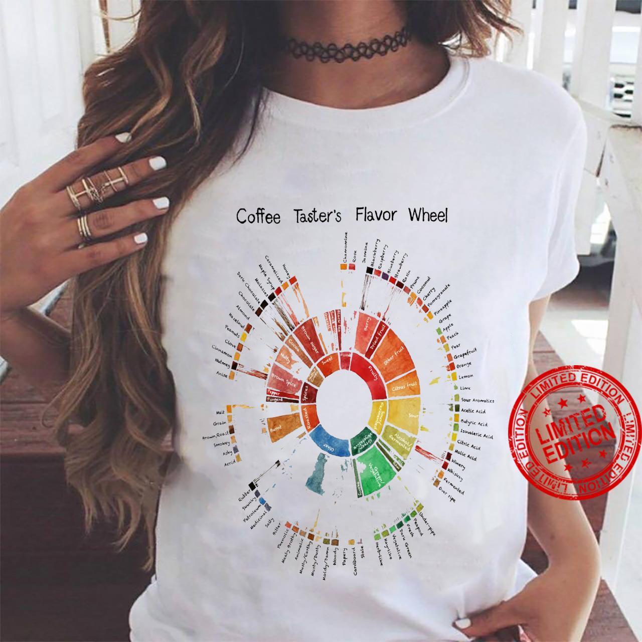 Coffee Taster's Flavor Wheel Shirt ladies tee