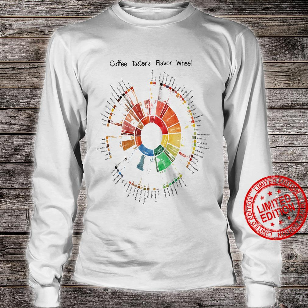 Coffee Taster's Flavor Wheel Shirt long sleeved