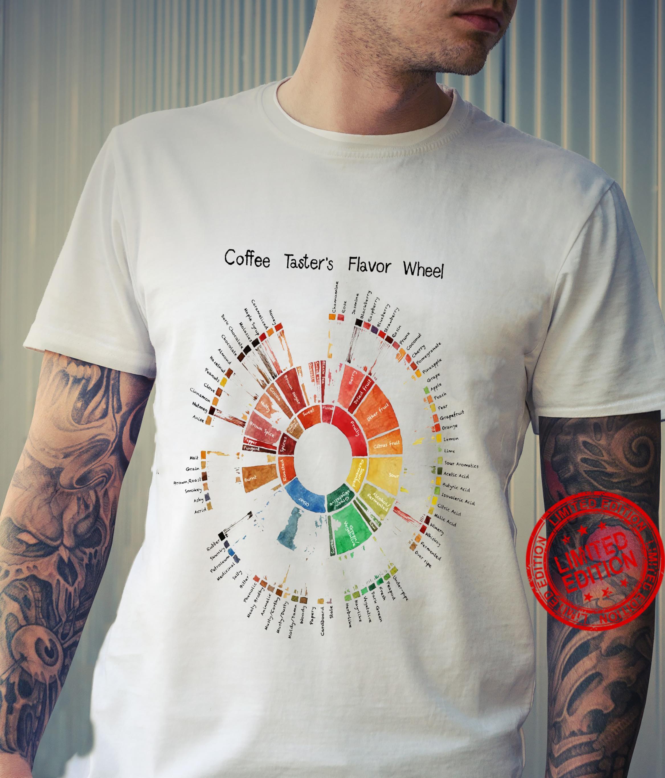 Coffee Taster's Flavor Wheel Shirt unisex
