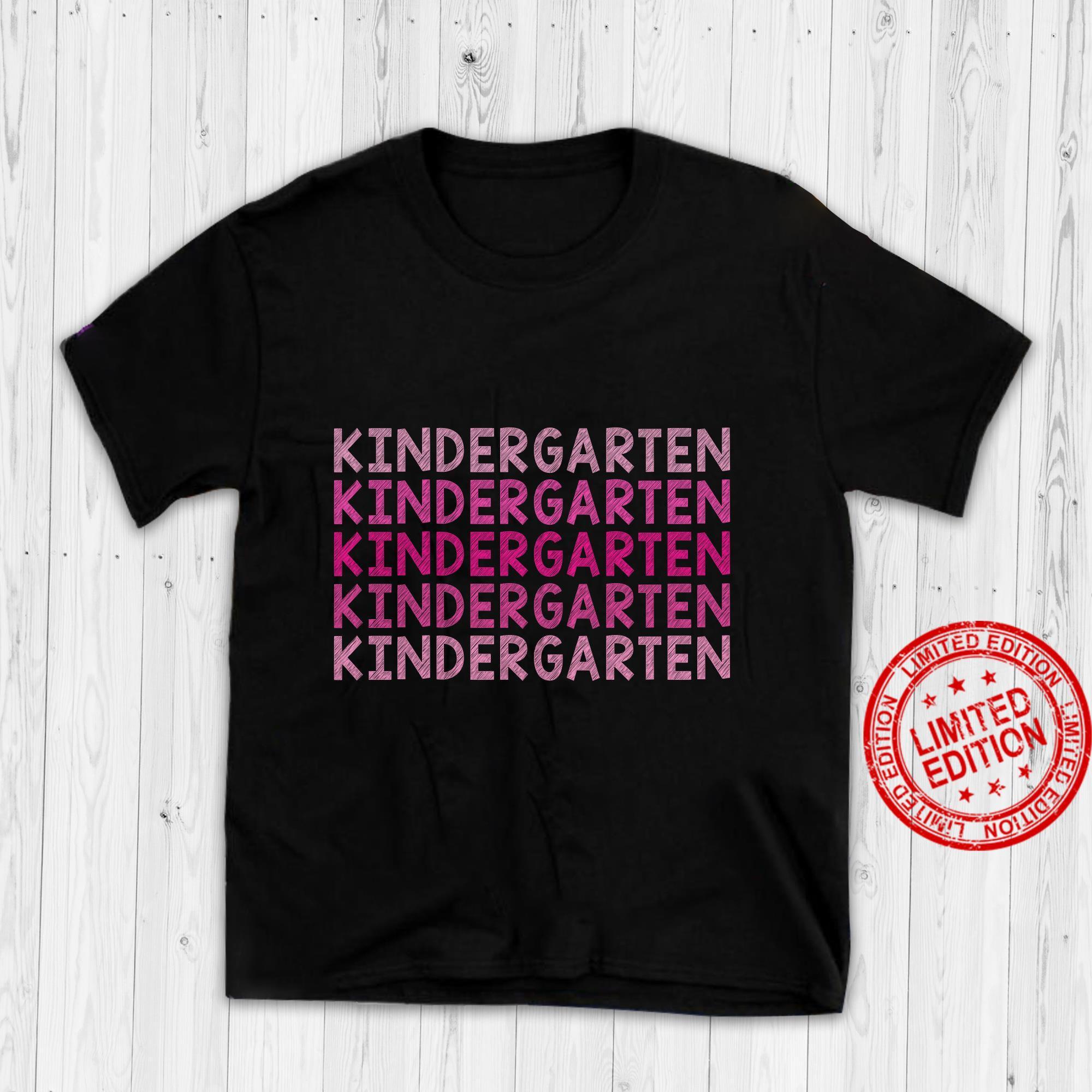 Kindergarten Happy First Day Of School Gift Grow With Me Shirt