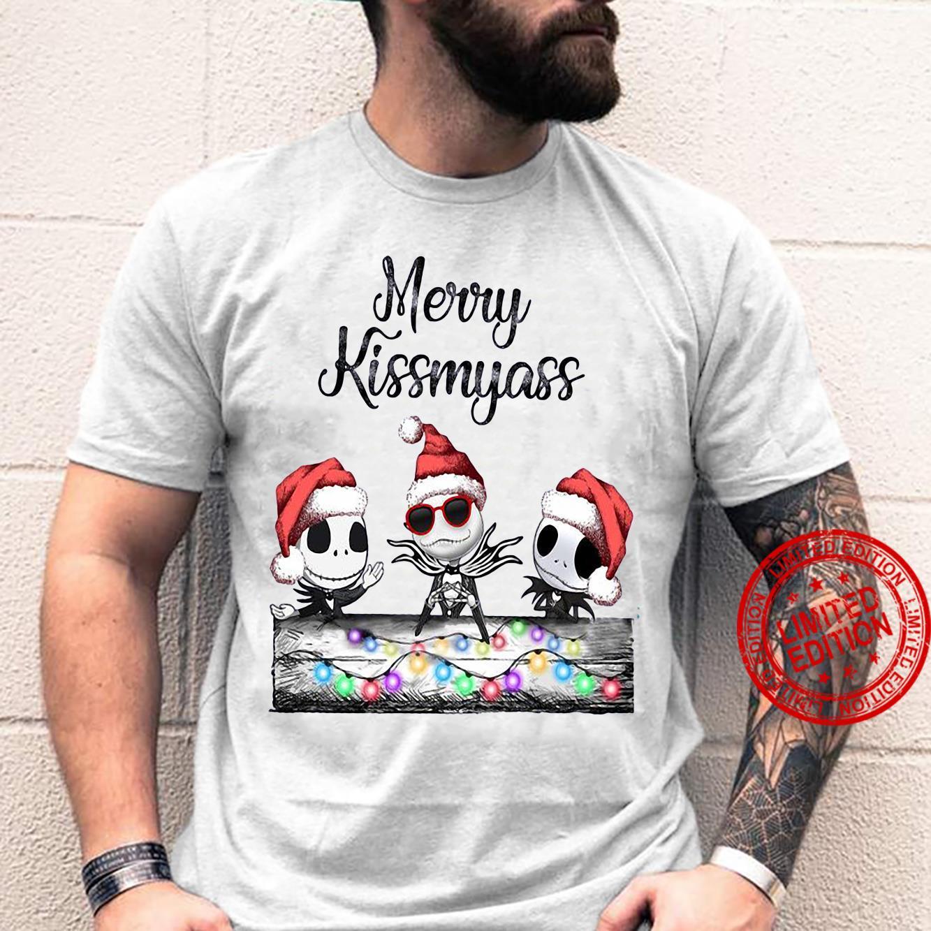 Santa Jack Skellington Merry Kissmyass Long Sleeve T-Shirt