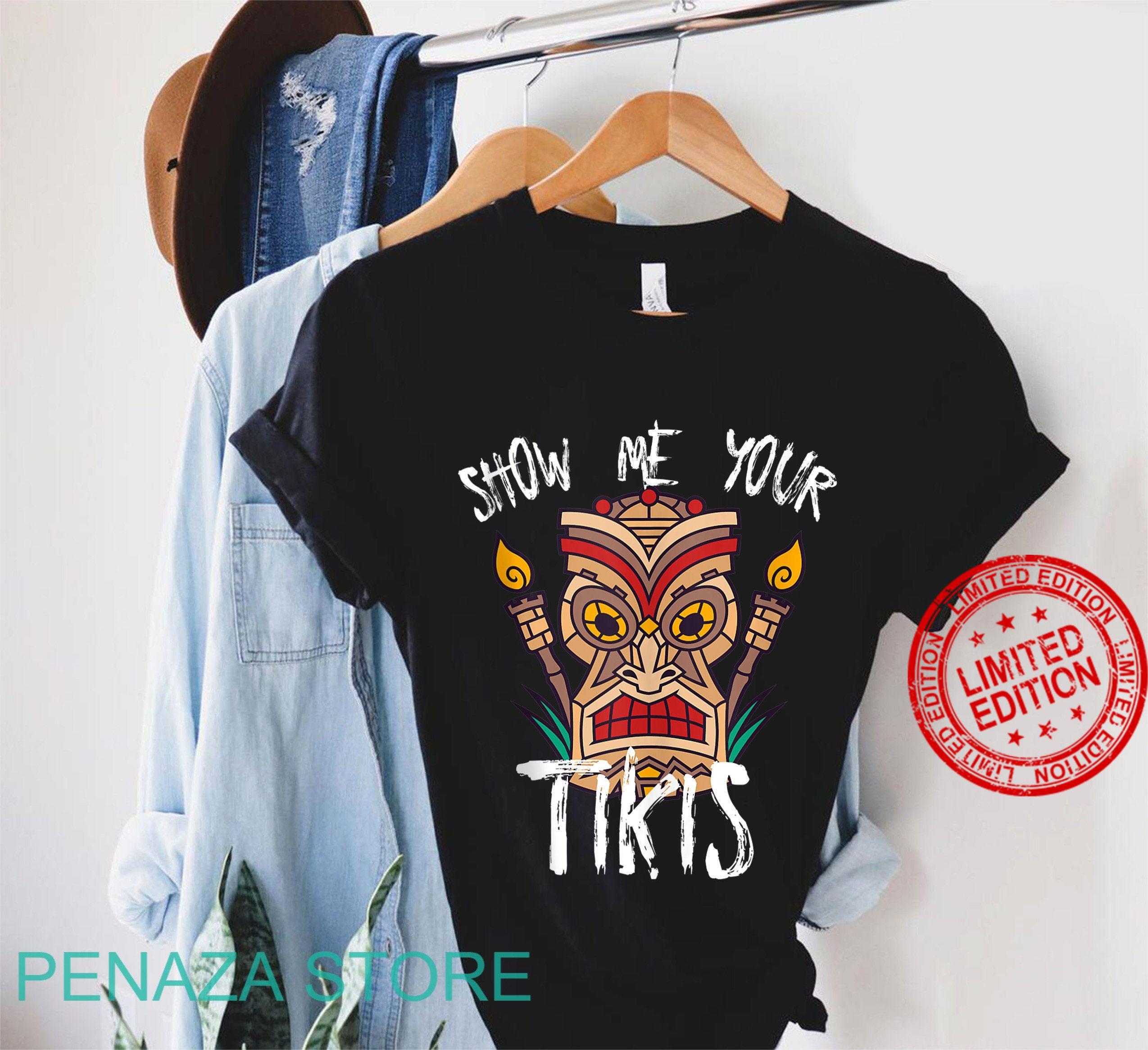 Show Me Your Tikis Funny Angry Tiki Hawaiian Shirt