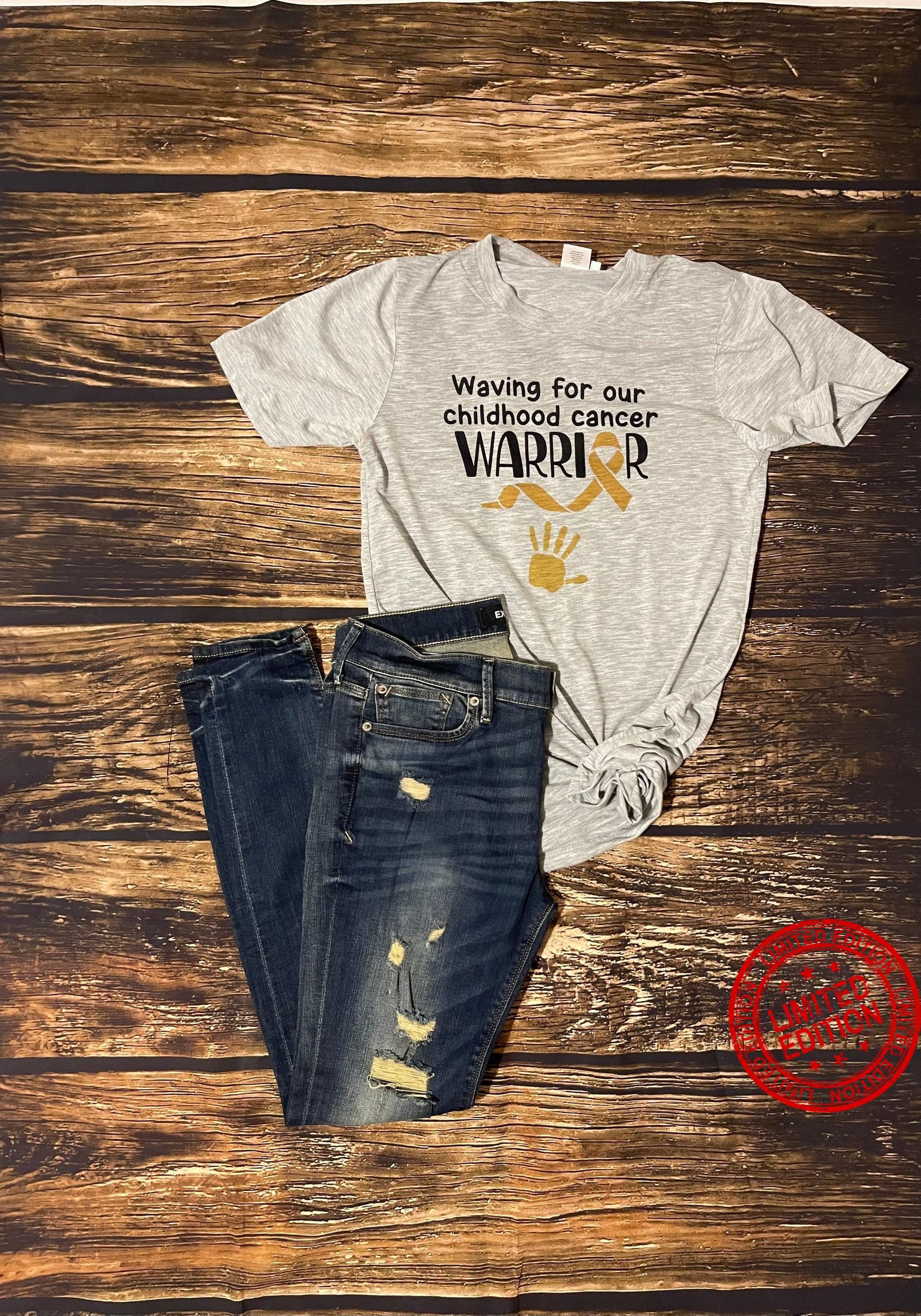 Waving For Our Childhood Cancer Warrior Shirt