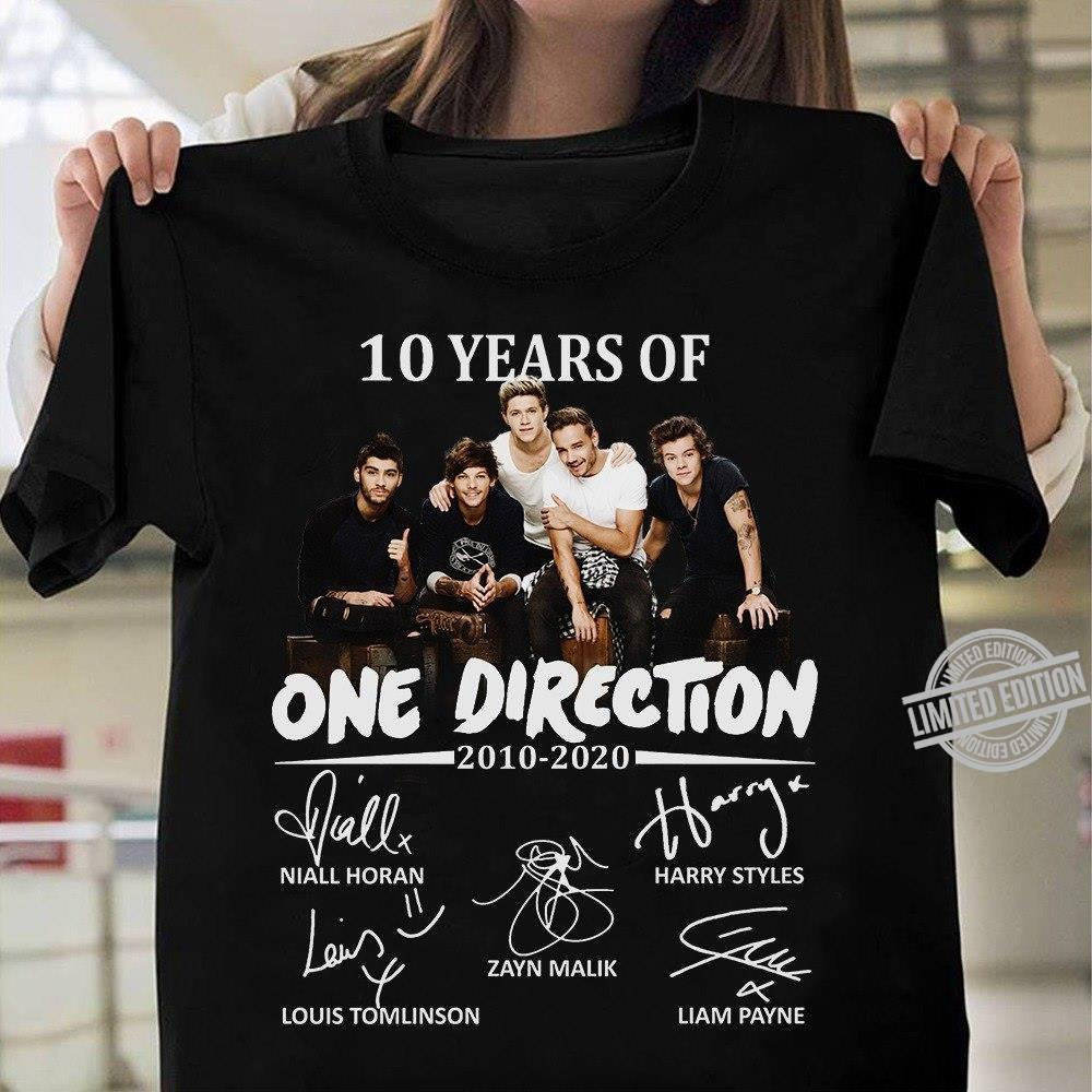 10 Years Of One Direction 2010-2020 Shirt