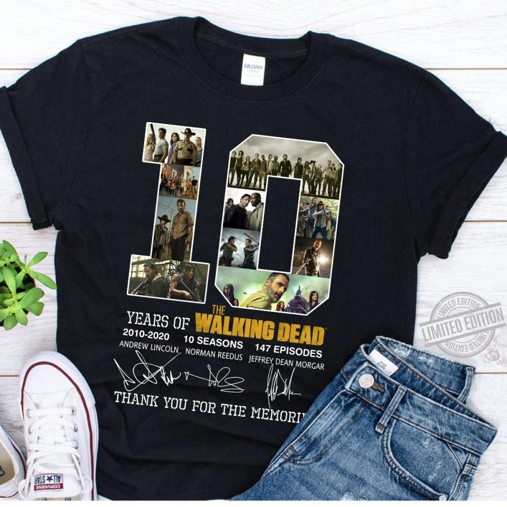 10 Years Of Walking Dead Signature Shirt