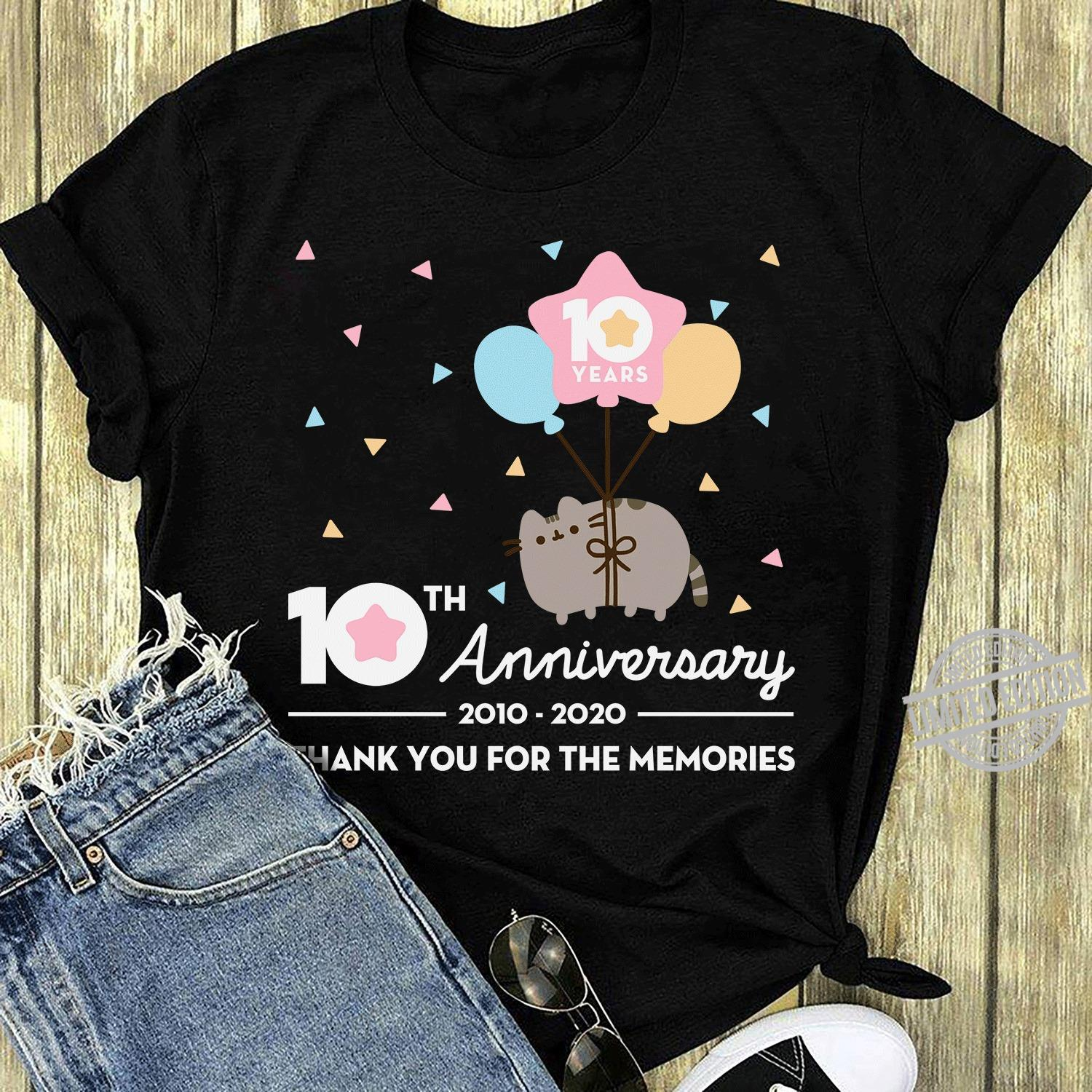 10th Anniversary 2010-2020 Thank You For The Memories Shirt