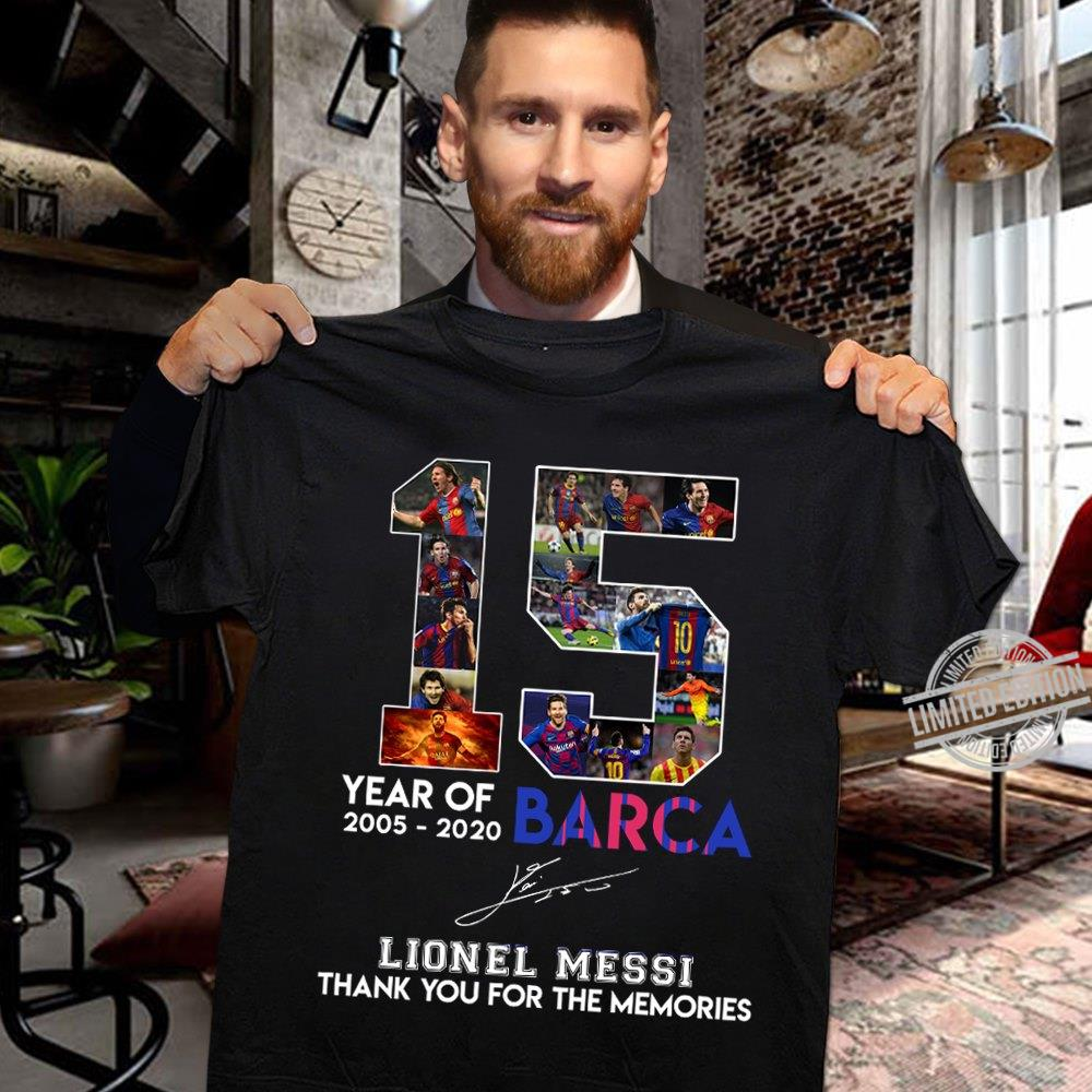 15 Year Of Barca Lionel Messi Signature Shirt