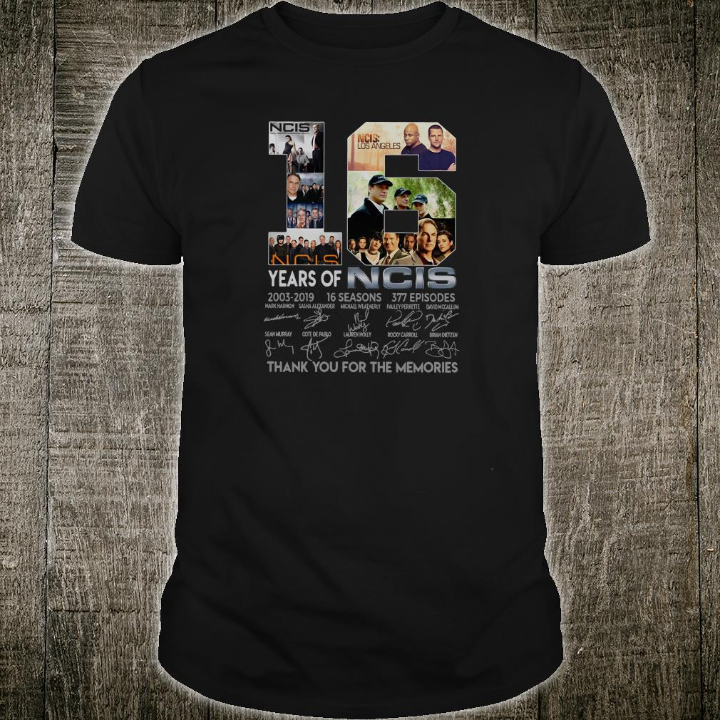 16 years of NCIS thank you for the memories shirt