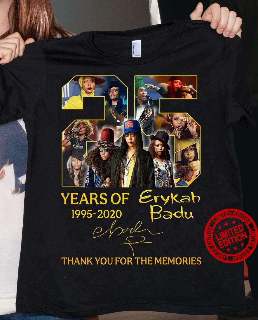 20 Years Of 1995-2020 Erykah Badu Thank You For The Memories Shirt