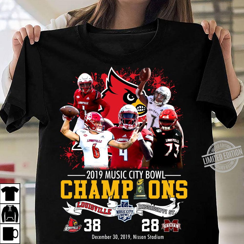 2019 Music City Bowl Champions Louisville And Mississippi ST. Shirt