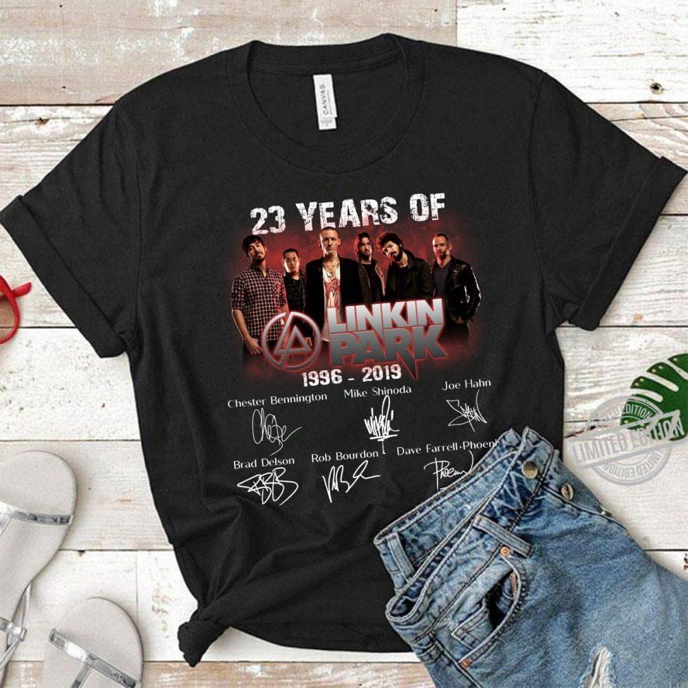 23 Years Of Linkin Park 1996-2019 Signatures Shirt