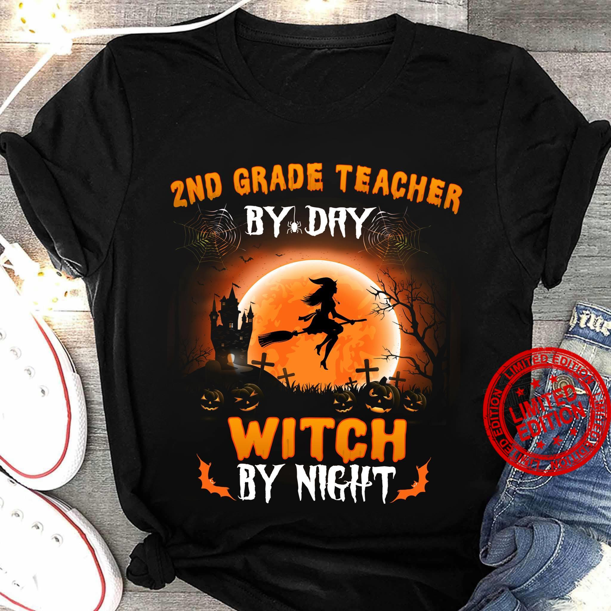 2nd Grade Teacher Witch By Night Shirt