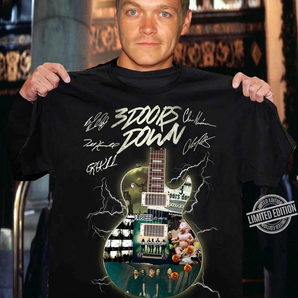 3 Doors Down Band Signatures Shirt