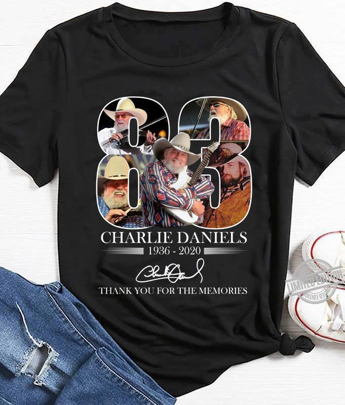 83 Charlie Daniels 1936-2020 Thank You For The Memories Shirt