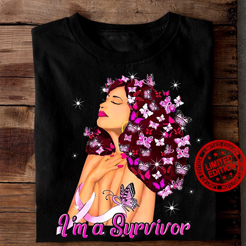 A Girl And Butterfly I'm A Survivor Shirt