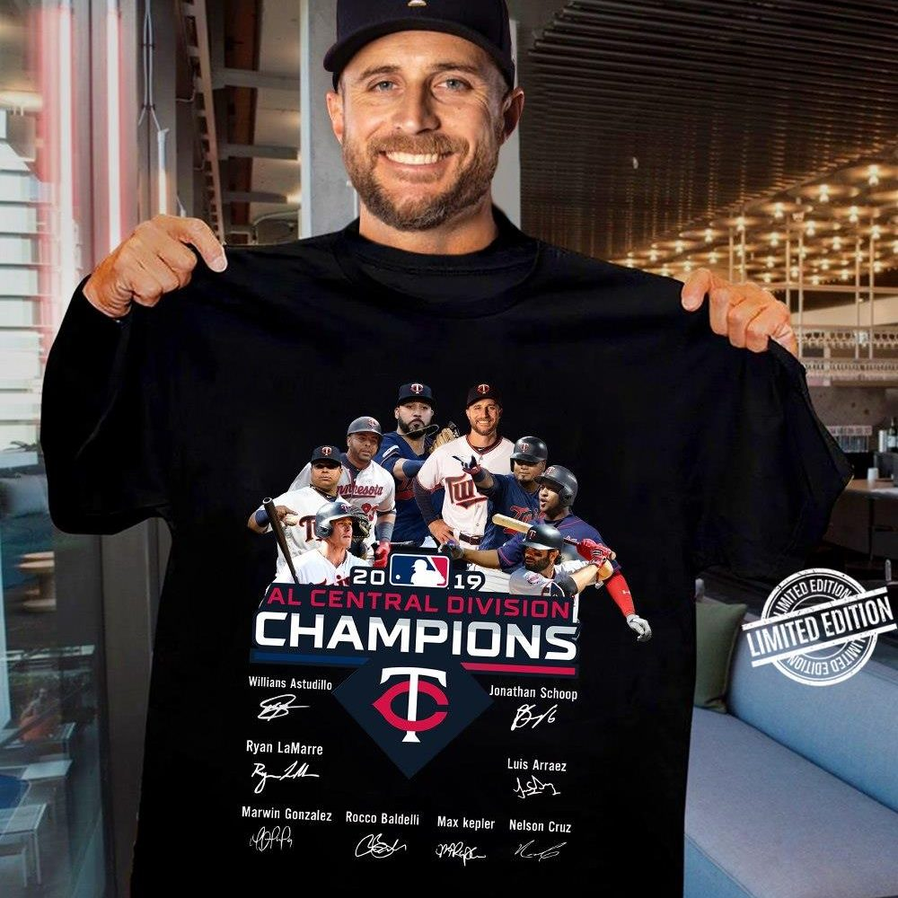 All Central Division Champions Signatures 2019 Shirt
