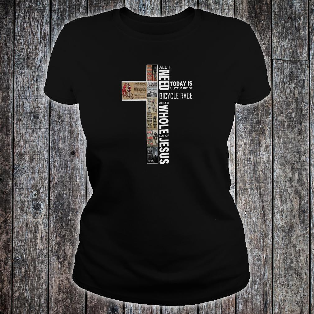 All i need today is a little bit of Bicycle Race and a whole lot of Jesus shirt ladies tee