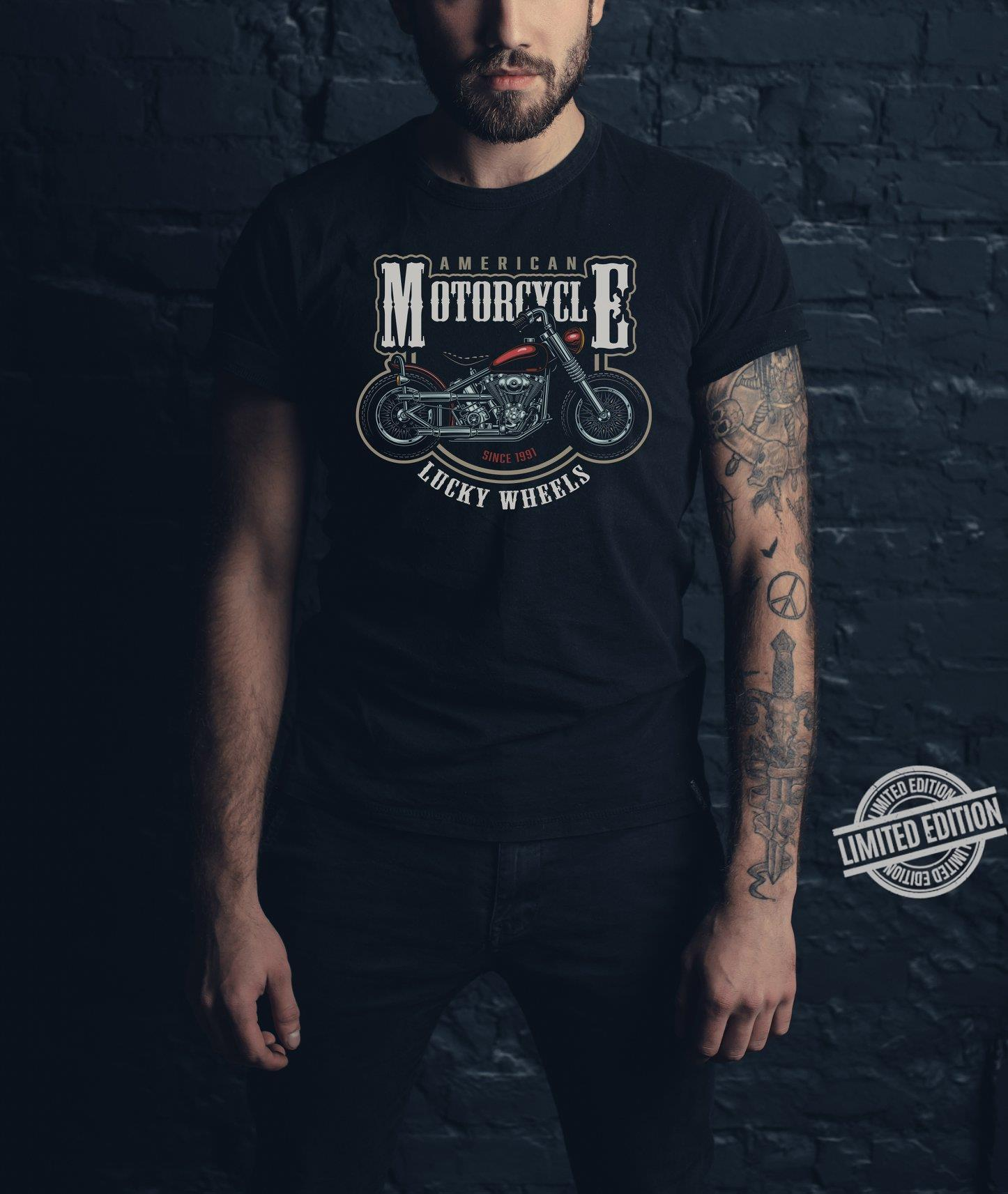 American Motorcycle Lucky Wheels Shirt