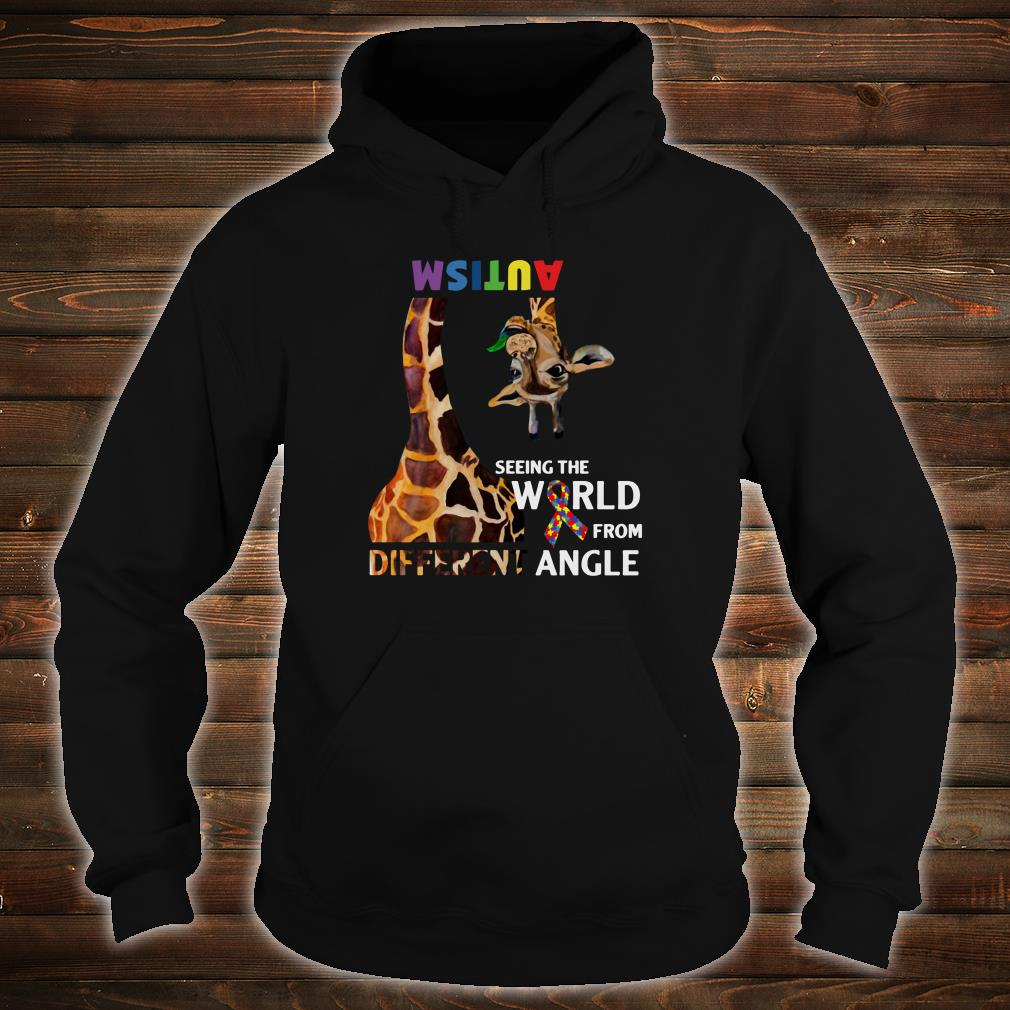 Autism seeing the world from different angle shirt hoodie