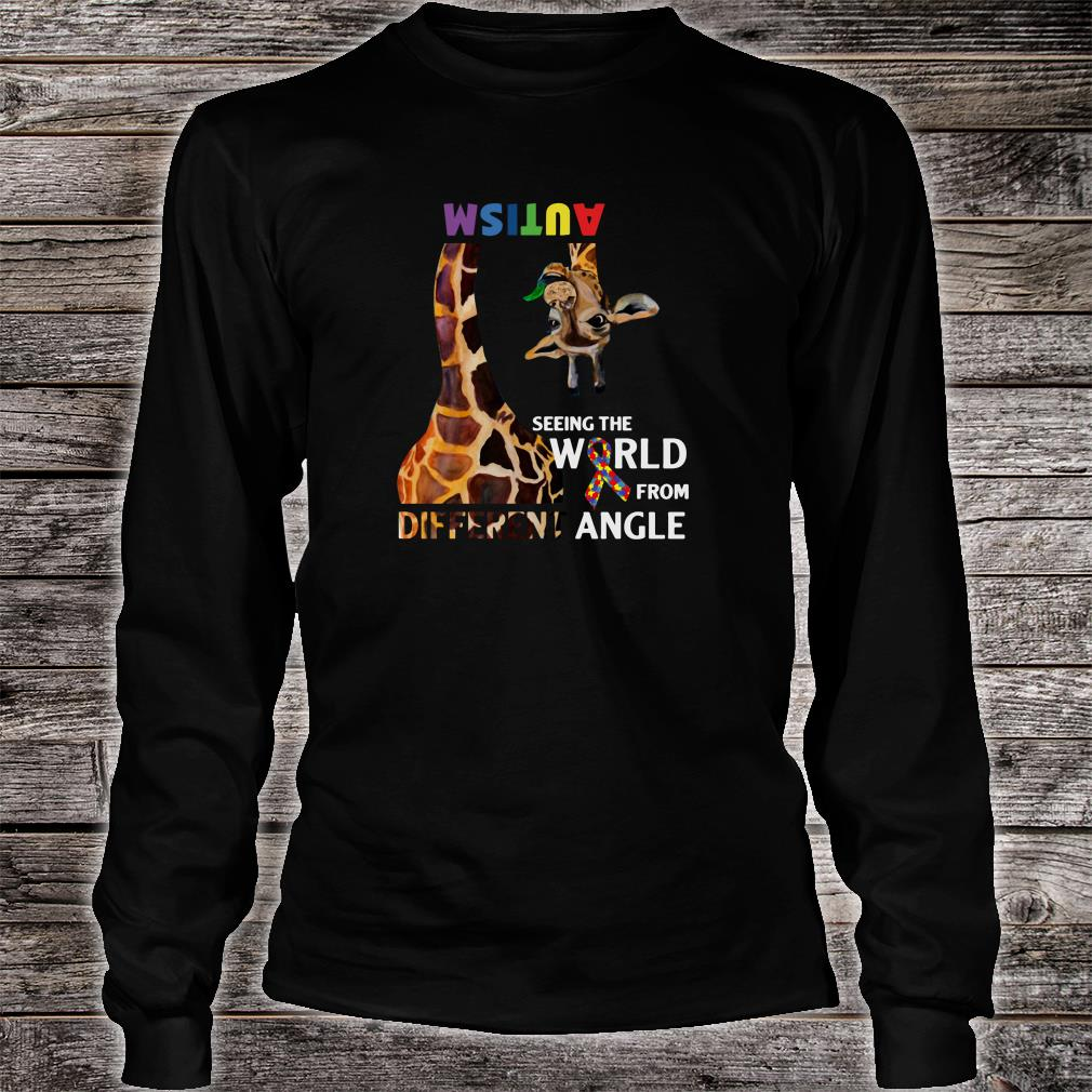 Autism seeing the world from different angle shirt long sleeved
