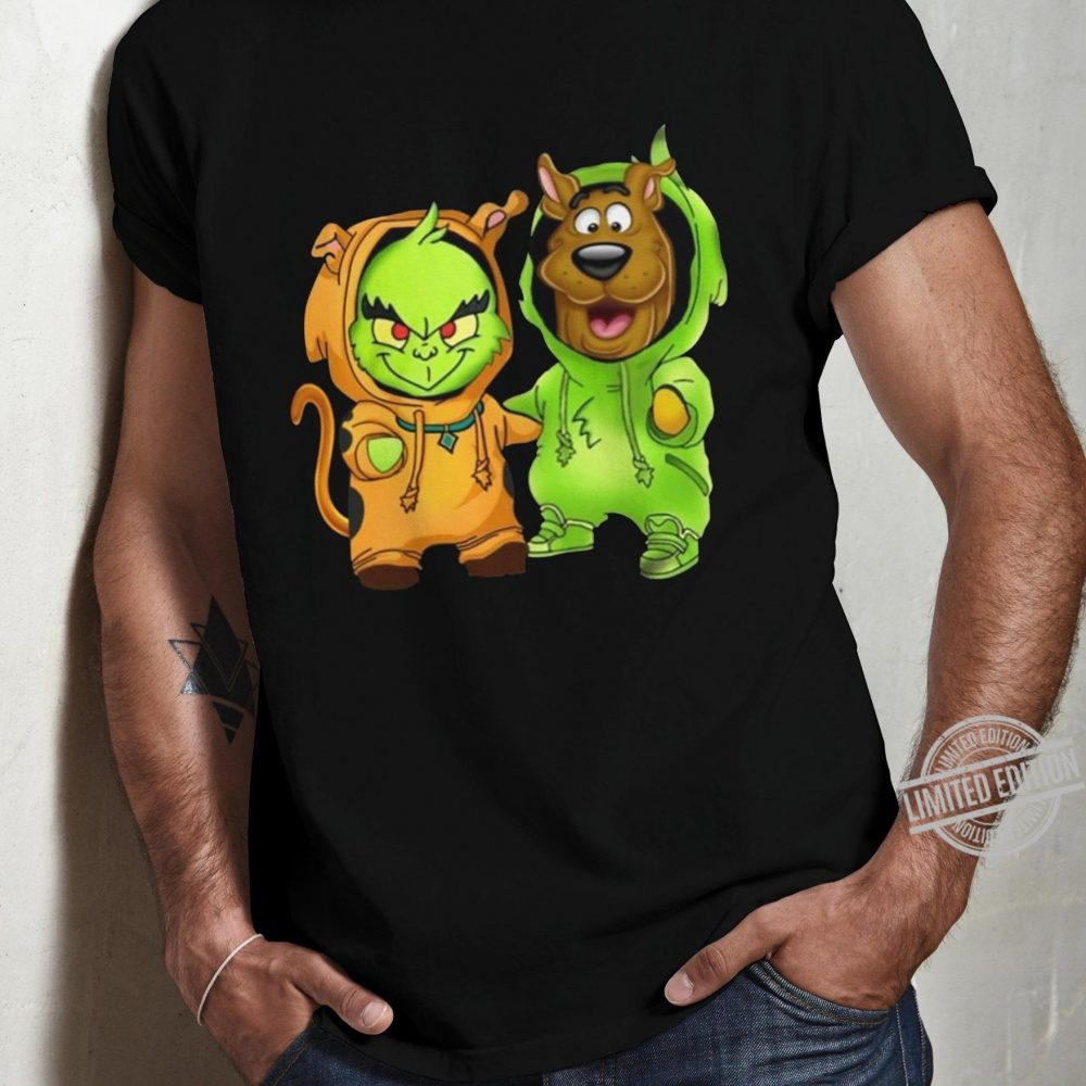 Baby Grinch And Baby Scoopy-doo Shirt