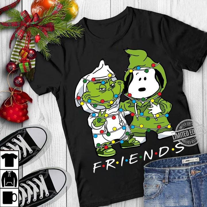 Baby Grinch And baby Snoopy Friends Christmas Light Shirt