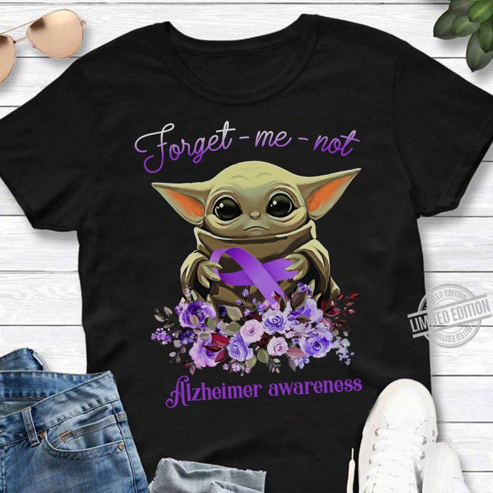 Baby Yoda Forget-Me-Not Alzheimer Awareness Shirt