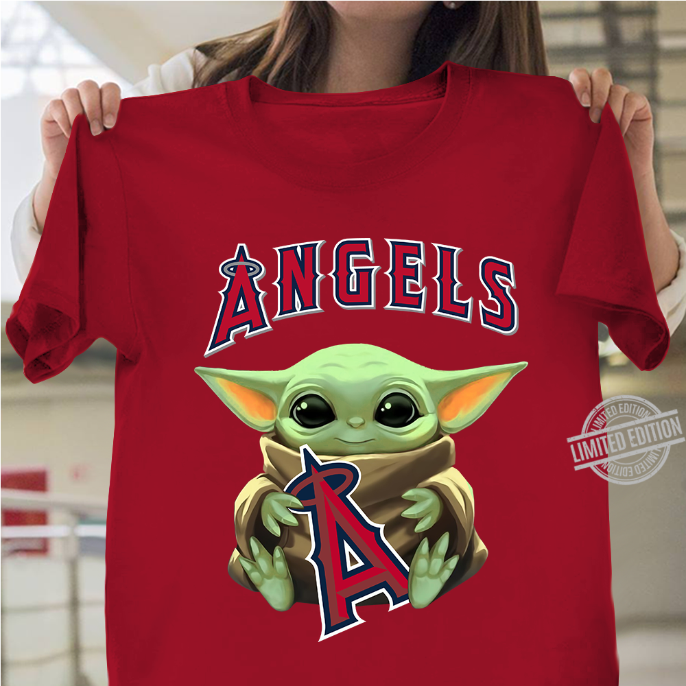 Baby Yoda Hug Angels Logo Shirt