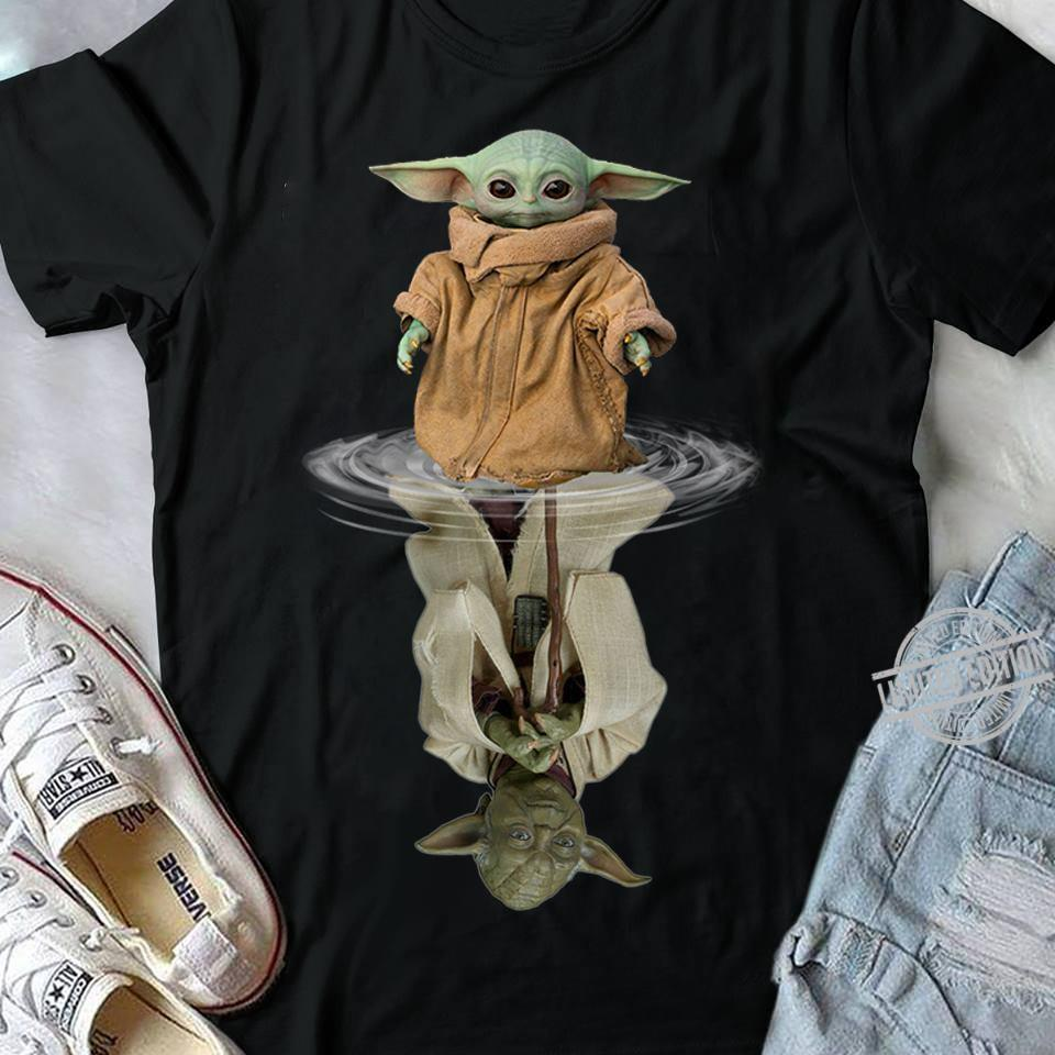Baby Yoda In The Water Is Old Yoda Shirt