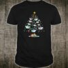 Boats decorating on the palm tree christmas shirt