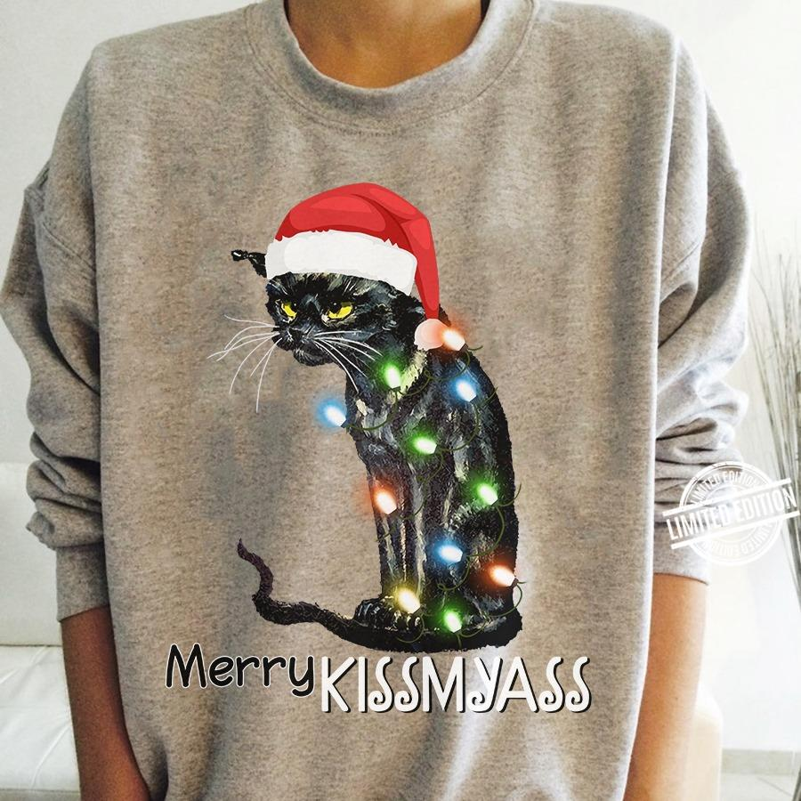 Cat Merry Kissmyass Shirt