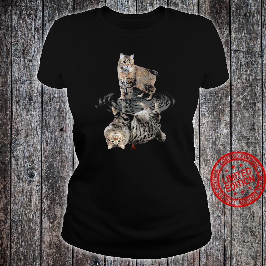 Cat Water Reflective Shirt ladies tee