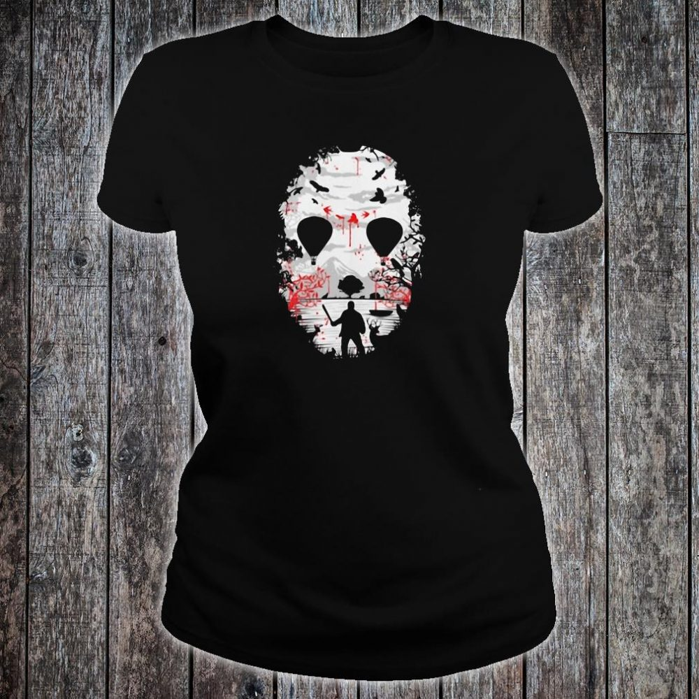 Day of the dead a man with a knife halloween shirt ladies tee