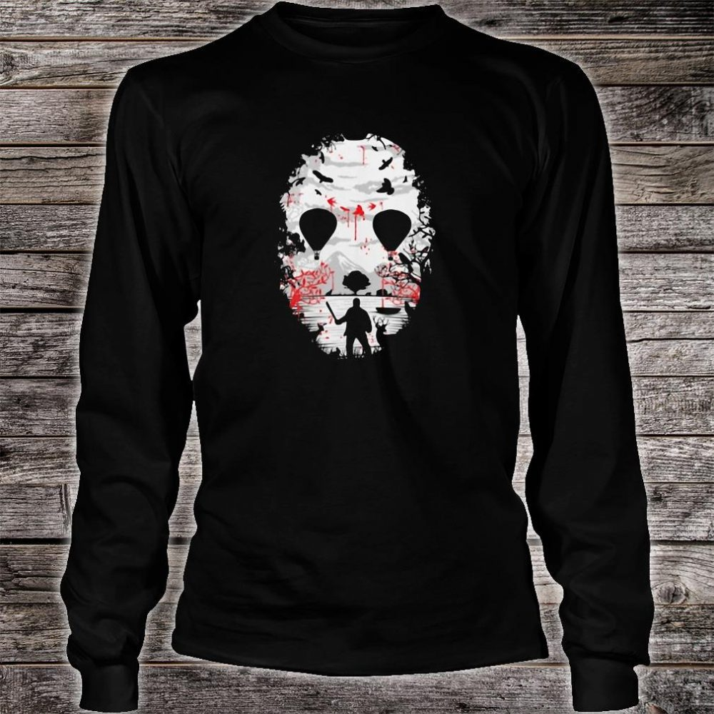 Day of the dead a man with a knife halloween shirt long sleeved