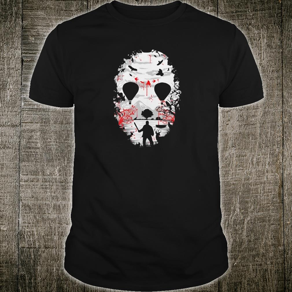 Day of the dead a man with a knife halloween shirt