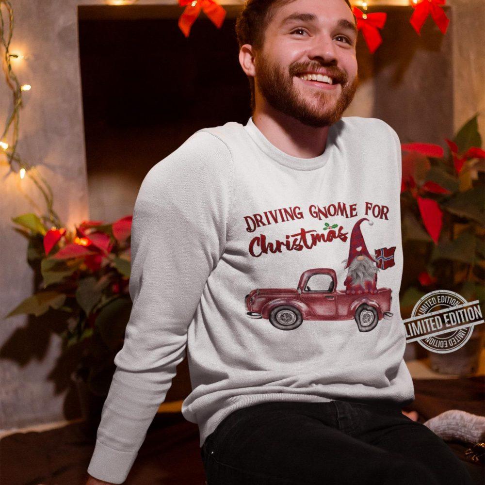 Driving Gnome For Christmas Shirt