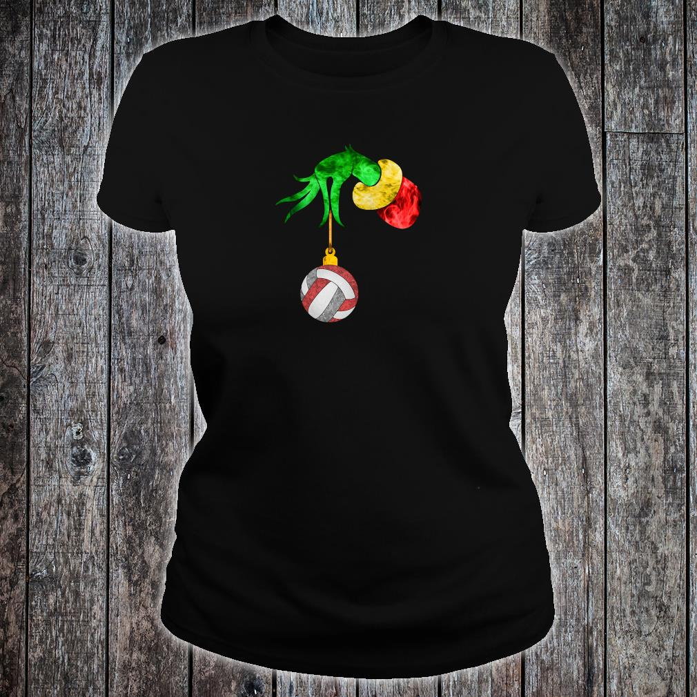 Grinch's hand and the ball shirt ladies tee