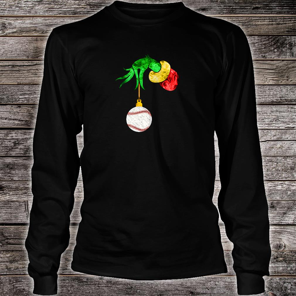 Grinch's hand and the softball shirt Long sleeved
