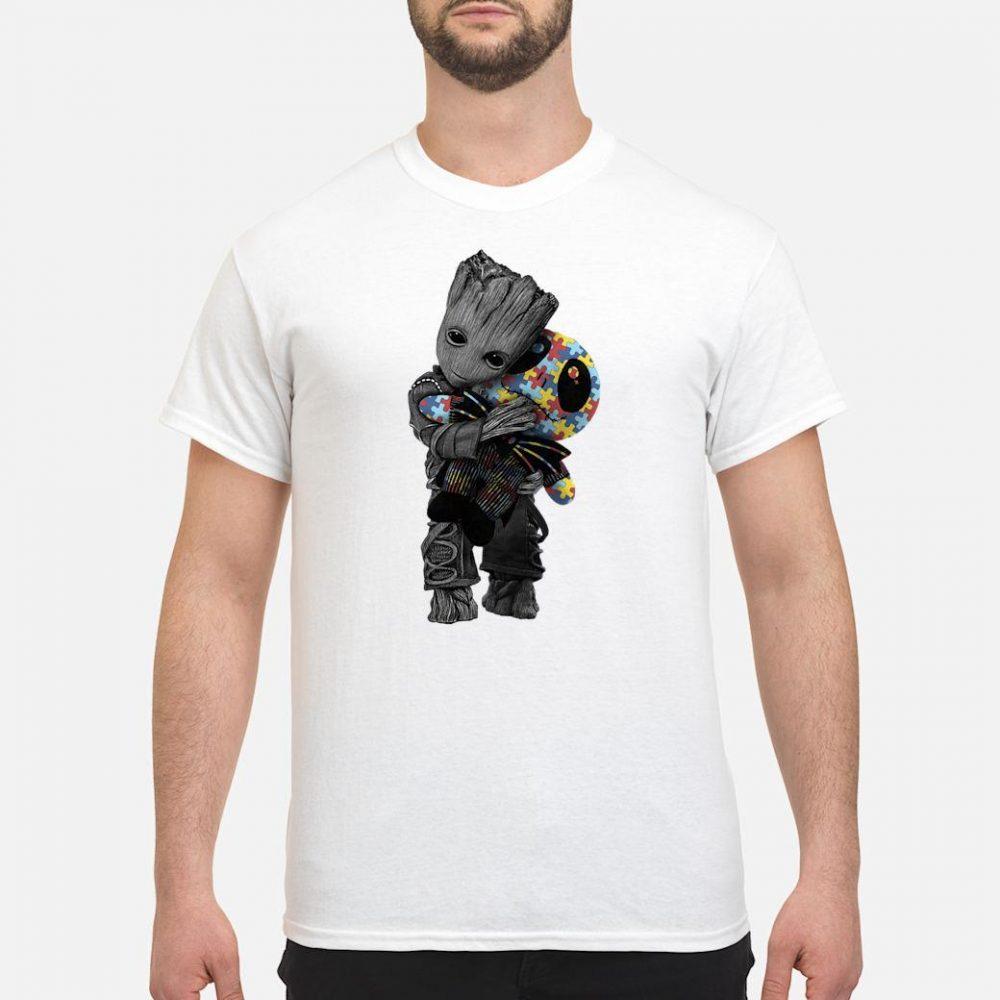 Groot hugs Jack Skellington doll shirt