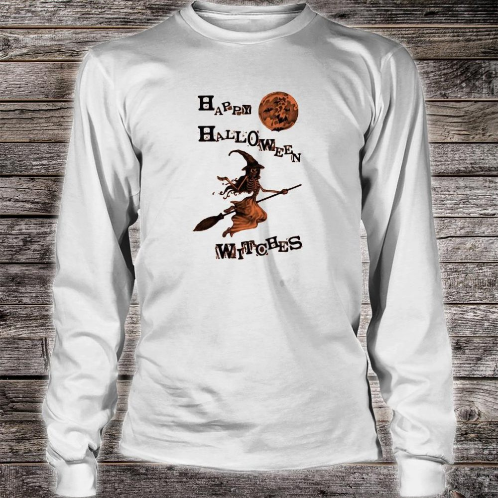 Happy halloween witches shirt long sleeved