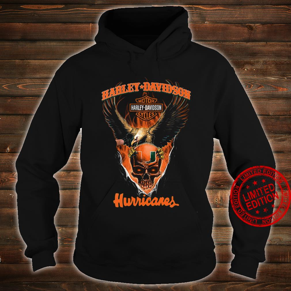 Harley Davidson Motorcycle And Hurricanes Shirt hoodie