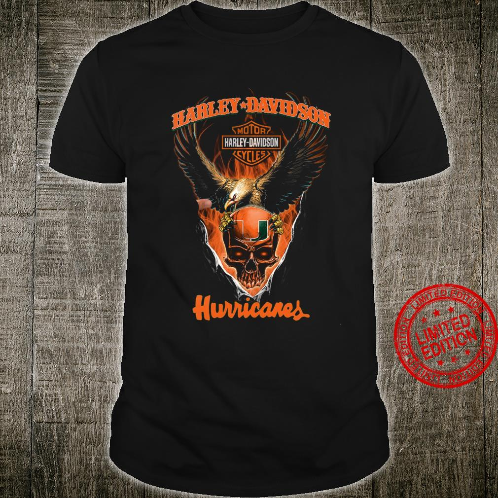 Harley Davidson Motorcycle And Hurricanes Shirt unisex