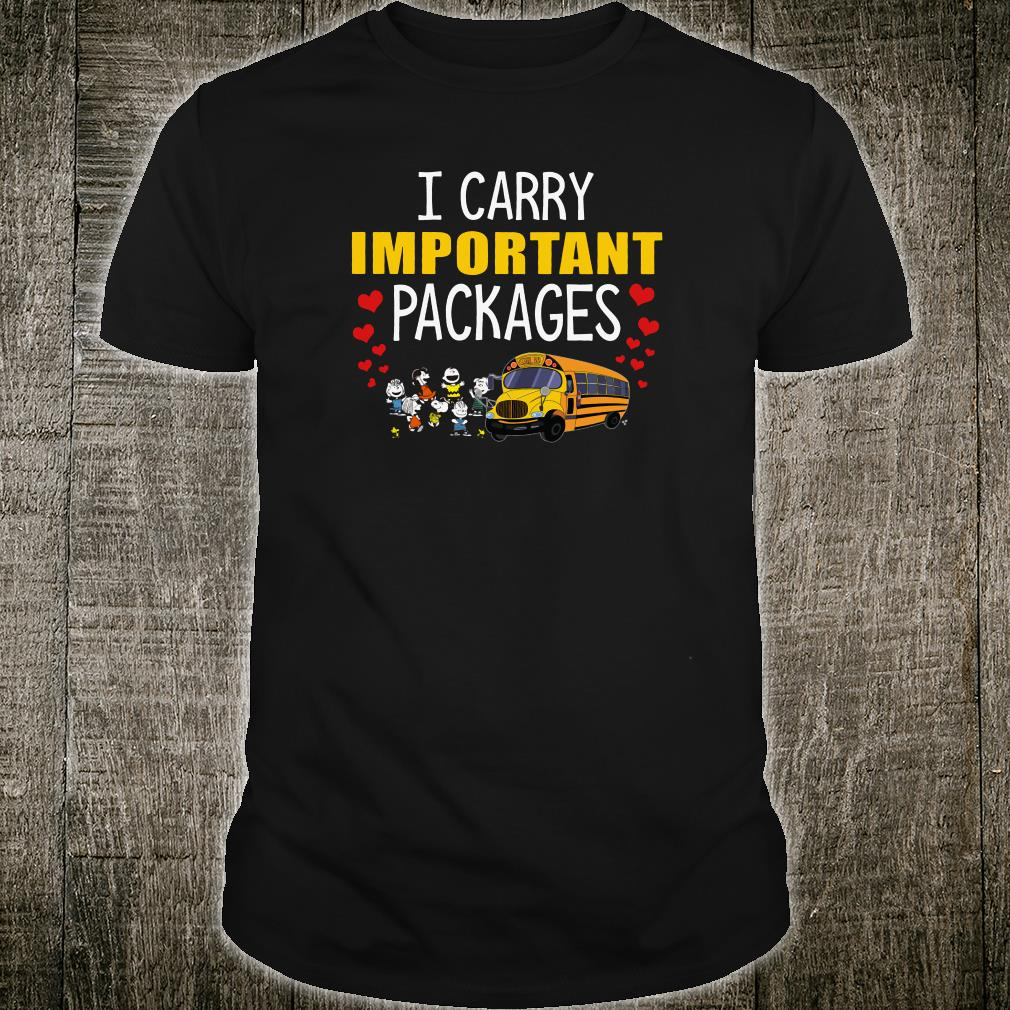 I carry important packages bus shirt