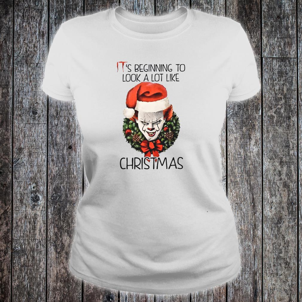 IT's beginning to look a lot like Christmas shirt ladies tee