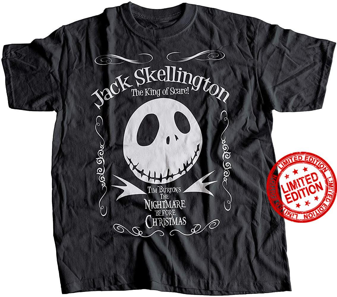 Jack Skellington The King Of Scare Tim Burton's The Nightmare Before Christmas Shirt