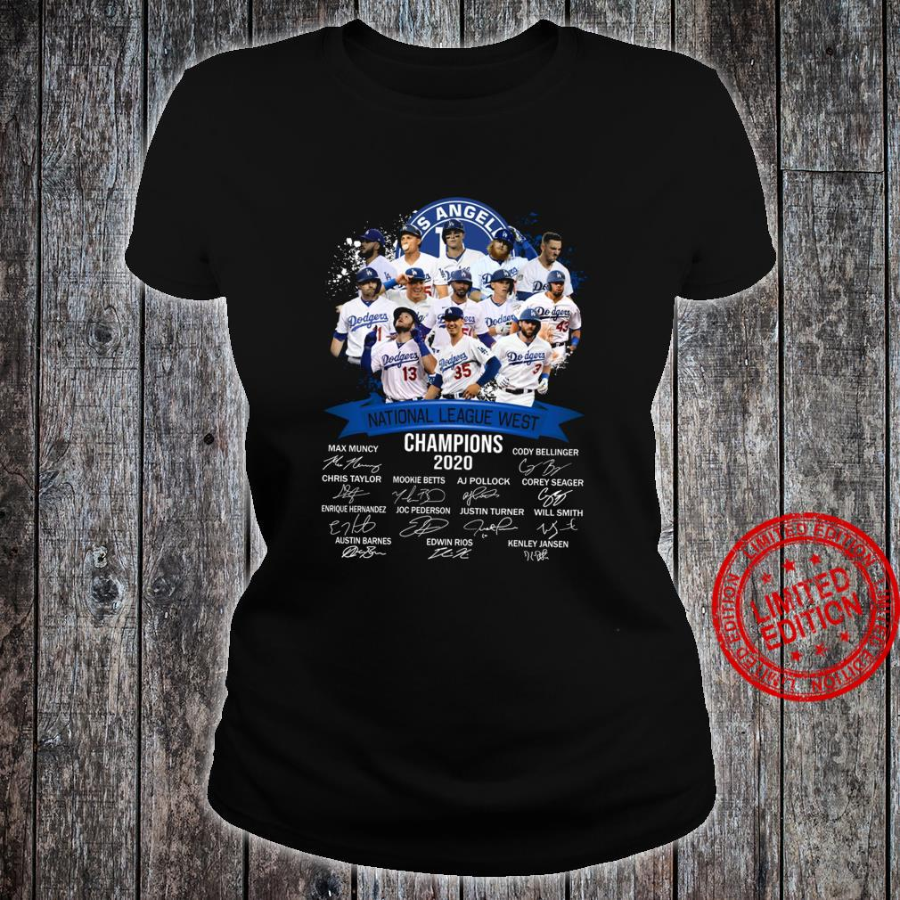 Los Angeles National League West Champions 2020 Shirt ladies tee