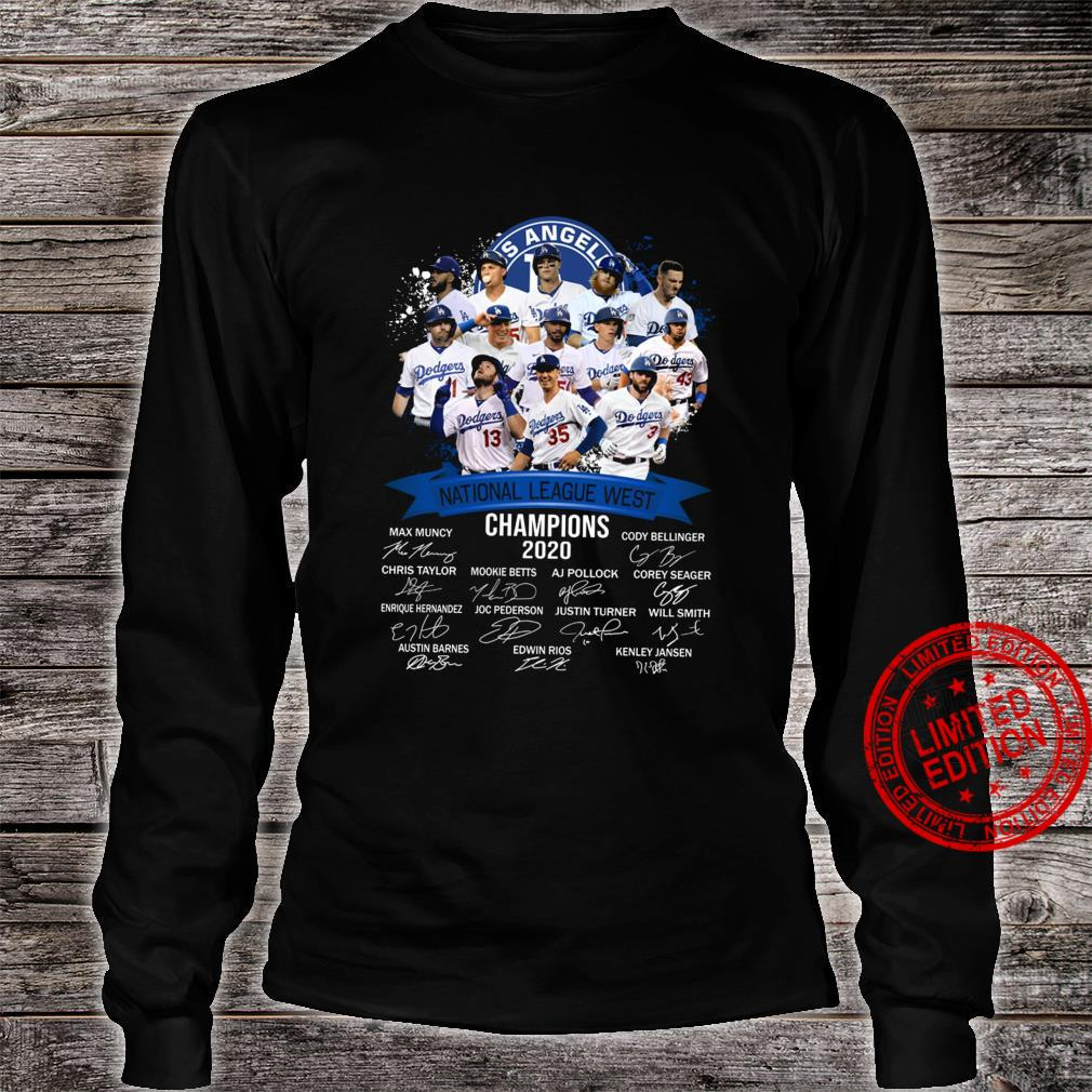 Los Angeles National League West Champions 2020 Shirt long sleeved