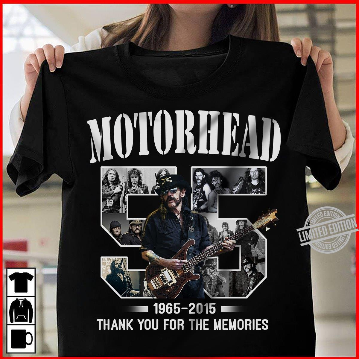 Motorhead 55 1965-2015 Thank You For The Memories Shirt
